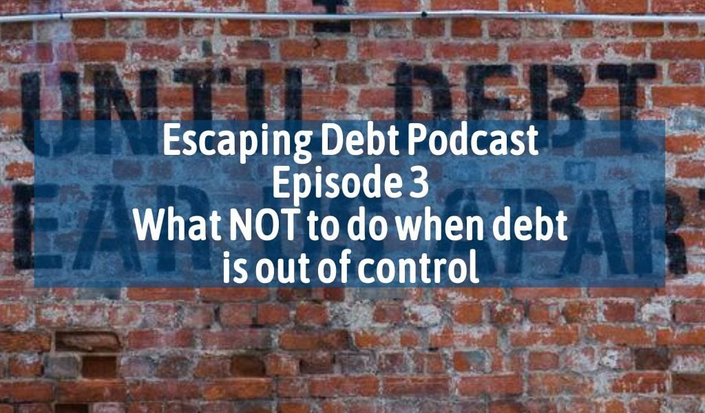 Escaping debt podcast image