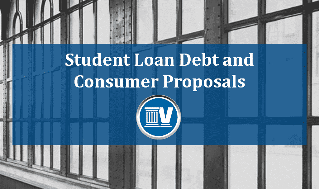 student loan debt and consumer proposals